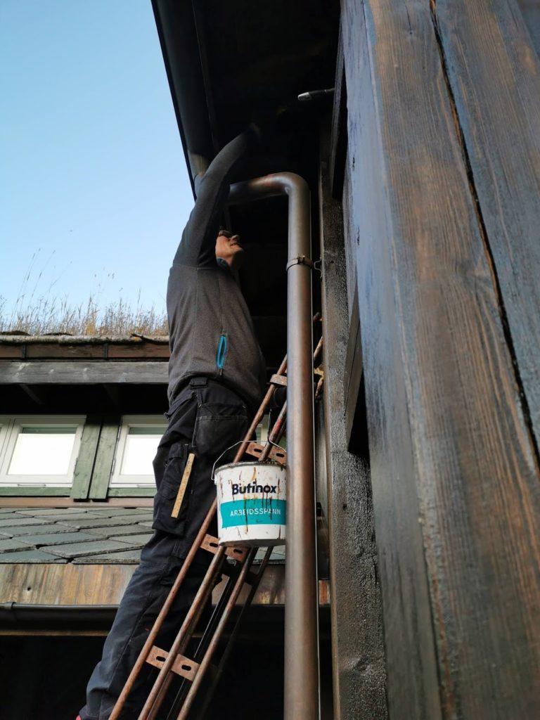 beising av hytte